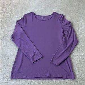 Chico's Long Sleeve Purple Ultimate Tee.
